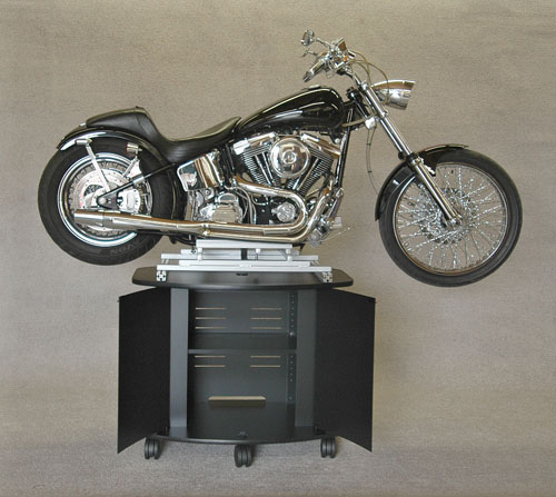 harley on top of display mount